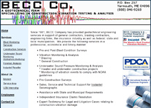 BECC Company, A Geotechnical Firm Specializing in Construction Vibration Testing and Analysis