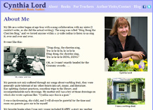 Click here to visit the author Cynthia Lord